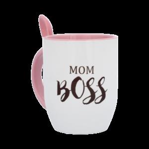 Mug con cuchara MomBoss